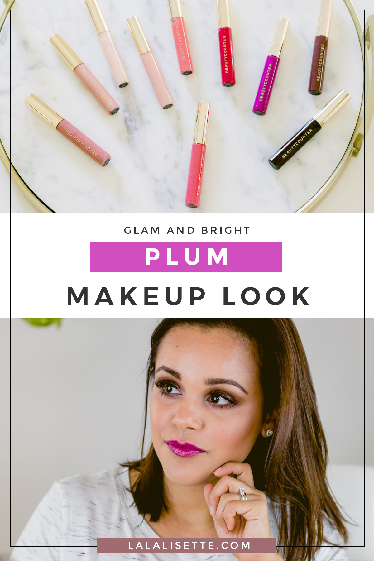 A glam plum makeup look with Beautycounter #saferbeauty #switchtosafer #cleanbeautyboss #cleanbeauty