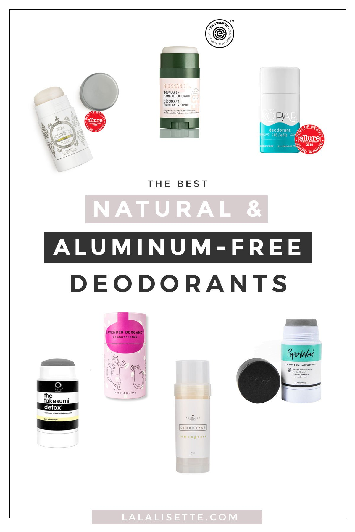 The Best Natural & Aluminum-Free Deodorants | La La Lisette