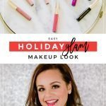 Easy Holiday Glam Makeup Look #holidaymakeup#christmasmakeup