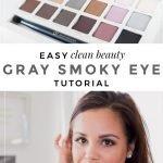Easy Clean Beauty Gray Smoky Eye - La La Lisette #smokyeye #cleanbeauty #beautycounter