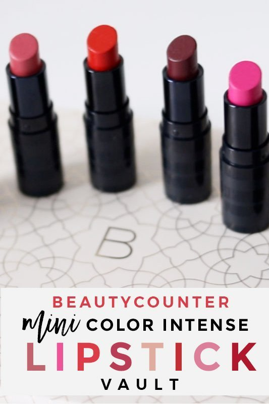 Beautycounter Mini Color Intense Lipstick Vault | Swatches & Review