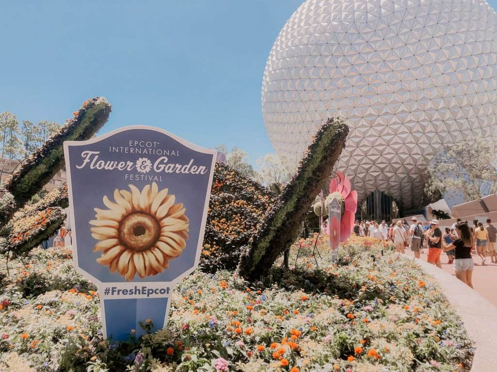 the entrance of the Epcot Flower & Garden Festival at Epcot #FreshEpcot