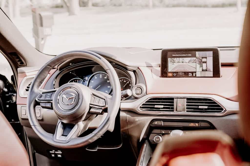 interior of Mazda CX-9