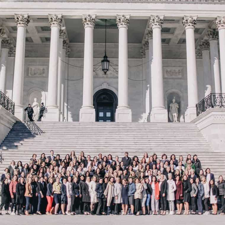 Beautycounter consultants at Capitol building