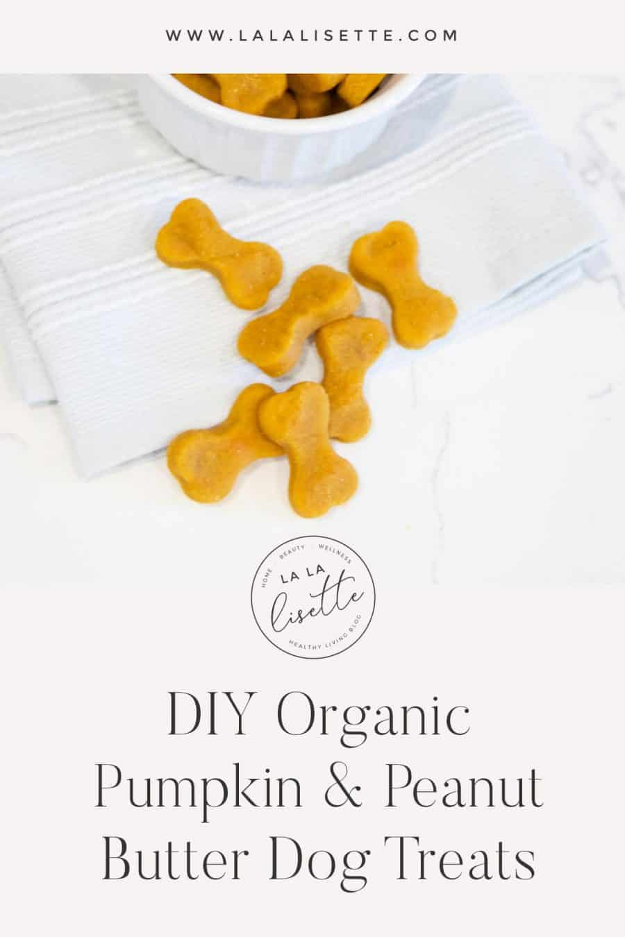 DIY organic pumpkin and peanut butter dog treats