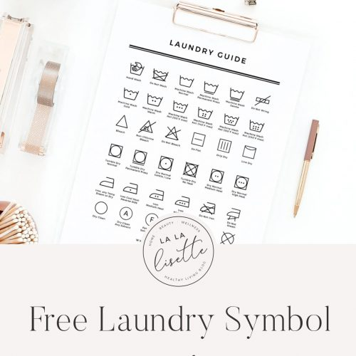 graphic with text: free laundry symbol printable