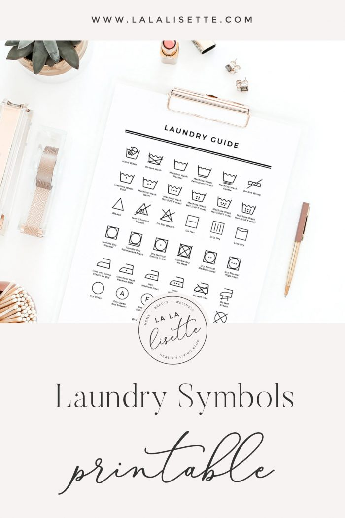 Printable Laundry Symbols Guide