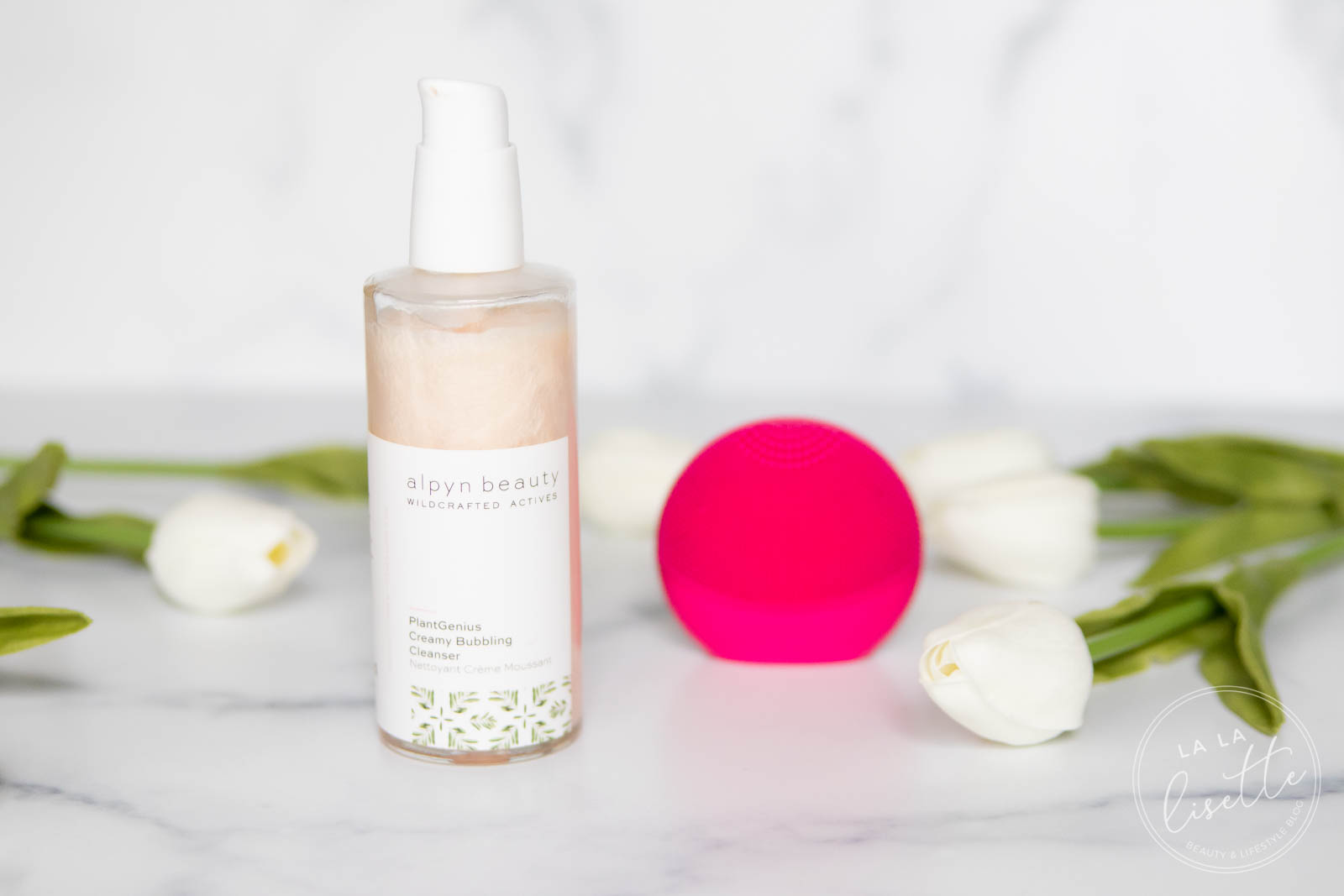 Alpyn Beauty PlantGenius Creamy Bubbling Cleanser and Foreo Luna Play